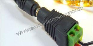 Anschluss-Adapter für LED-Strips Lüsterklemme auf 5,5 / 2,1 mm Buchse