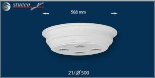 LED Deckenbeleuchtung Düren 21/500x500-3 Design Lampen mit Stuck und LED Spots