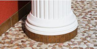Säulenbasis-Hälfte mit Beschichtung OFKK 160/324