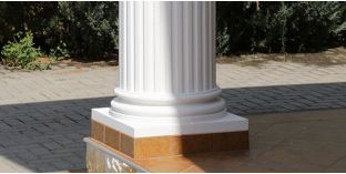 Säulensockel-Hälfte mit Beschichtung OFK-2K 260/380