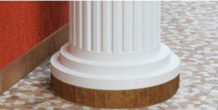 Säulenfuß-Hälfte mit Beschichtung  OFMK 180/380