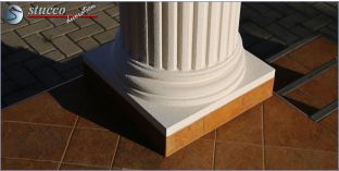 Säulensockel-Hälfte mit Beschichtung OFK-2K 140/260