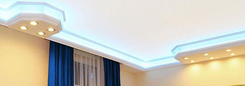 Styropor Stuck und Led Strips mit indirekten Beleuchtung