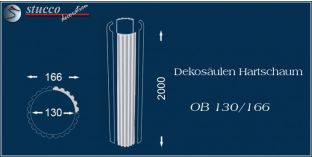 Dekosäulen Hartschaum OB 130/166