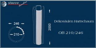 Dekosäulen Hartschaum OB 210/246