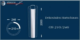 Dekosäulen-Viertel Hartschaum OS 210/246