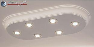 Design Stucklampe aus Zierleisten mit LED Spotlampen Bayern 10/1000x500-3