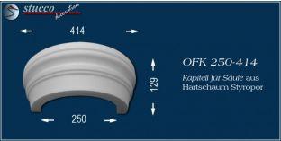 Kapitell-Hälfte für Säule aus Hartschaum Styropor OFK 250/414