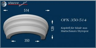 Kapitell für Säule aus Hartschaum Styropor OFK 350/514