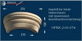 Kapitell für Dekosäule mit Beschichtung OFKK 210/374
