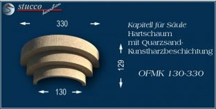 Kapitell für Säule mit Beschichtung OFMK 130/330
