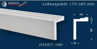 L-Profil für Laibung und Faschen Bangkok 103-KT 175-185 mm