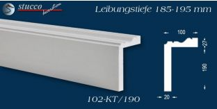 Stuck Fassade Leibungsverkleidung Mirow 102 KT 185-195 mm