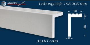 Stuck Fassade Leibungsverkleidung Hof 100 KT 195-205 mm