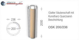 Glattes Säulenschaft-Viertel mit Beschichtung OSK 200/236