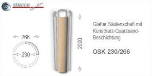Glattes Säulenschaft-Viertel mit Beschichtung OSK 230/266