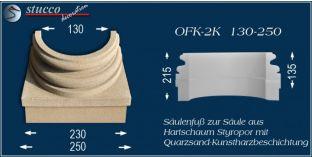 Säulenfuss-Hälfte mit Beschichtung OFK-2K 130/250