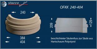 Säulenbasis mit Beschichtung OFKK 240/404