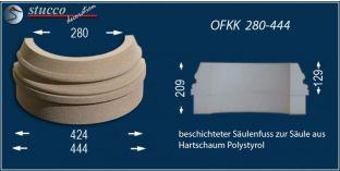 Säulenbasis-Hälfte mit Beschichtung OFKK 280/444
