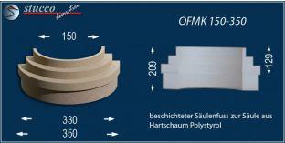Säulenfuß-Hälfte mit Beschichtung OFMK 150/350