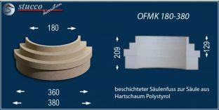Säulenfuß mit Beschichtung  OFMK 180/380