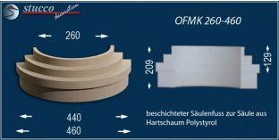 Säulenfuß-Hälfte mit Beschichtung  OFMK 260/460