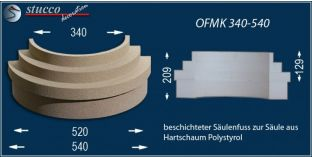 Säulenfuß mit Beschichtung OFMK 340/540