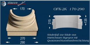 Säulenfuss-Hälfte mit Beschichtung OFK-2K 170/290