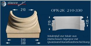 Säulenfuss-Hälfte mit Beschichtung OFK-2K 210/330