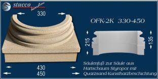 Säulenfuss-Hälfte mit Beschichtung OFK-2K 330/450