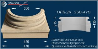 Säulenfuss-Hälfte mit Beschichtung OFK-2K 350/470