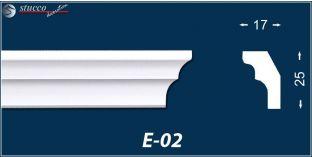 Styropor Deckenleisten E-2