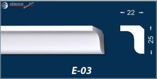 Styropor Stuckleisten E-3