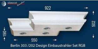 'Berlin 303/202' LED Stucklampe mit RGB Strips