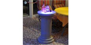 Dekosäule Hartschaum ODMK 435/758 mit Quarzsandbeschichtung und Beleuchtung