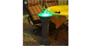 Dekosäule Hartschaum ODKK 310/660 mit Quarzsandbeschichtung und Beleuchtung