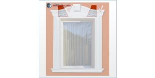 Fassadenstuck flexible Zierleisten für äußeren Bogen Ankara 108