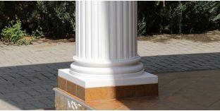 Säulenfuss-Hälfte mit Beschichtung OFK-2K 260/380