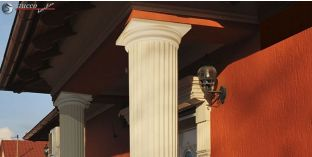 Säulenkapitell-Hälfte mit Beschichtung OFK-2K 220/340