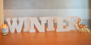 Winter 3D Buchstaben