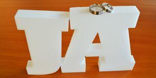 Buchstaben Deko Hochzeit - JA-Wort