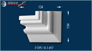 Fassadenstuck Zierleisten Ankara 108 linkes Kombi-Eckelement