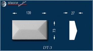Aussenstuck Zierornamente Avitus DT-3 unbeschichtet