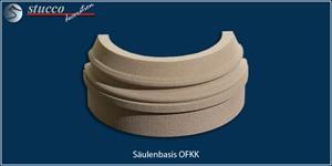Runder Säulenfuß OFKK mit Sockel sowie mit Kunstharz und Quarzsand beschichtet