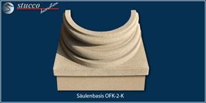 Säulenfuß mit Sockel und Quarzsand-Kunstharz-Beschichtung OFK-2K