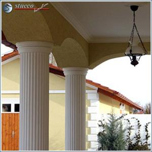 Kannelierte Säulenverkleidung mit stoßfester Beschichtung für Dekosäulen im Außenbereich
