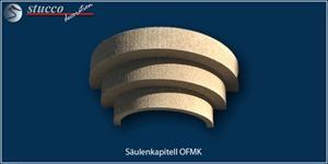 Säulenkapitell OFMK mit Kunstharz und Quarzsand beschichtet