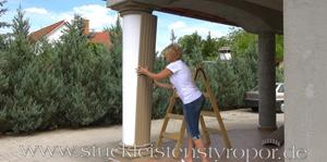 Säulenkopf und Säulenfuß für beschichtete Styroporsäulen