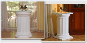 Komplette Dekosäulen für den Innenbereich - mit und ohne indirekte LED Beleuchtung