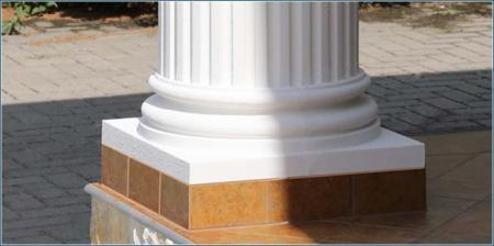 Säulenbasis für Stucksäulen und zur Säulenverkleidung